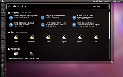 Ask Ubuntu Unity Lens