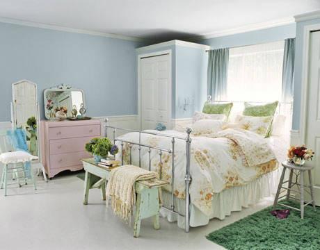 Dormitorio rom ntico dormitorios con estilo - Spring bedding makeover ideas ...