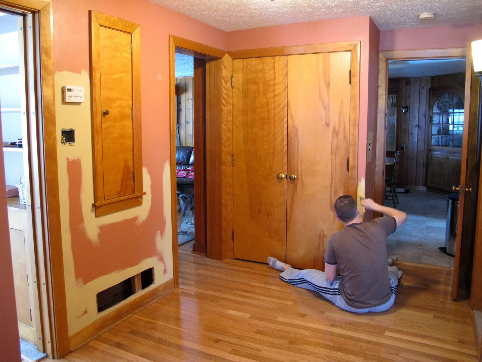 Brian Painting Our Hallway