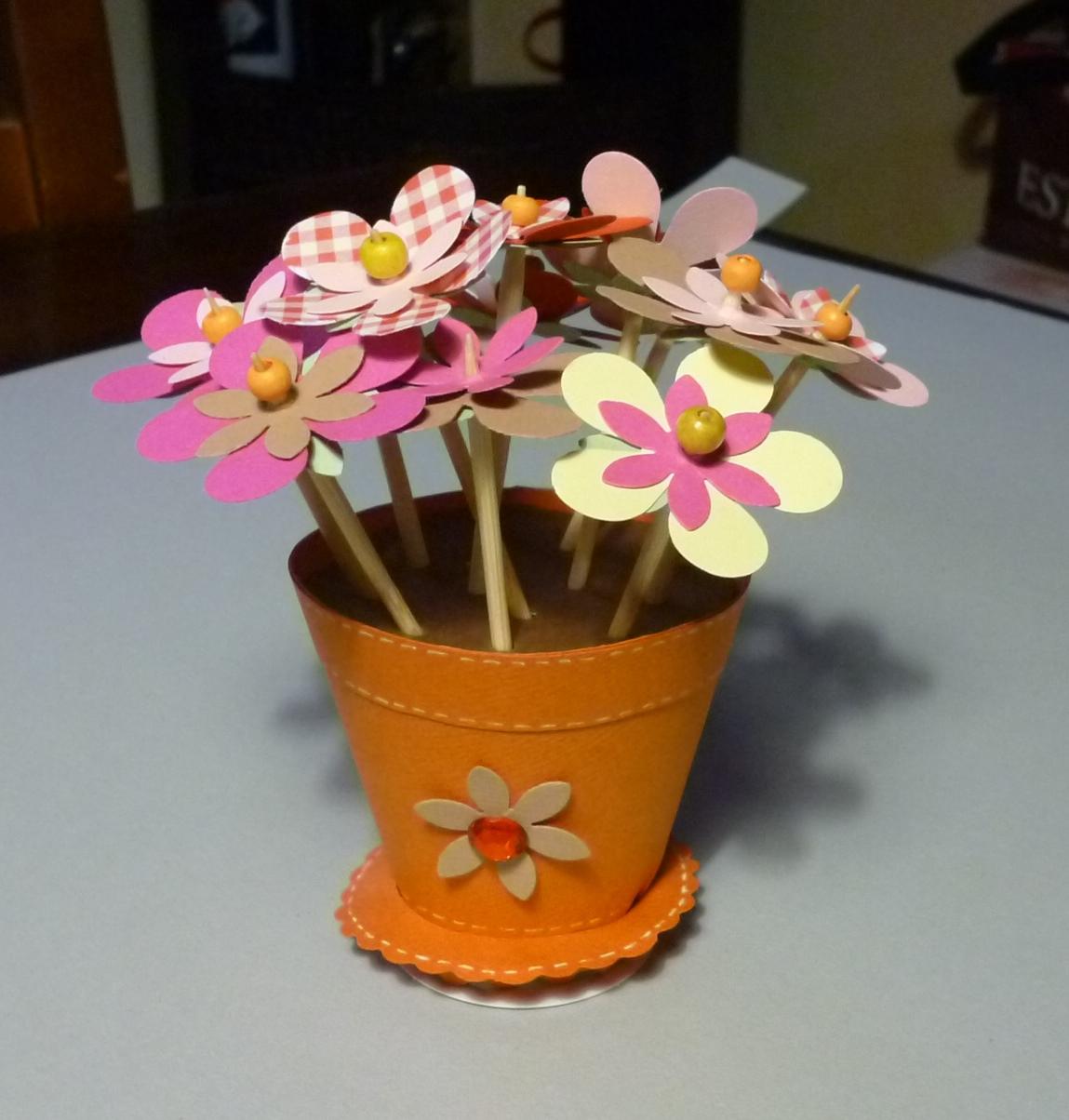 Cartoncino mio vaso di fiori for Fiori da vaso