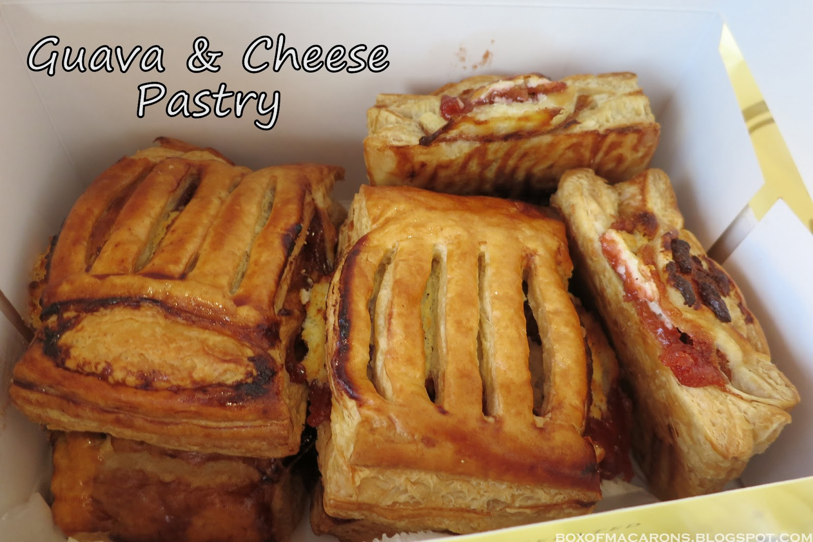 ... Cheese Pastry - Flaky puff pastry filled with guava and cream cheese
