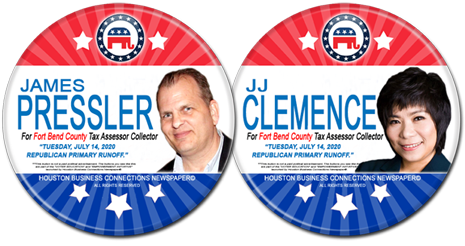 James Pressler and JJ Clemence are the Rep Candidates for Fort Bend County Tax Assessor