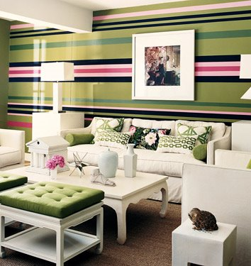 April Interiors Easy Stripes on Textured Walls