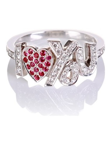 CADA - i love you ring 18kt white gold diamonds