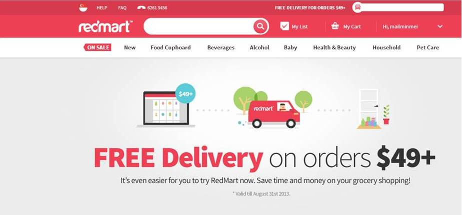 Singapore online shopping free shipping