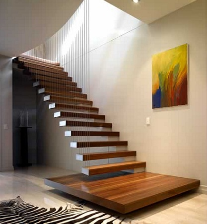 Best home design creating unique stairs Floating stairs
