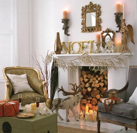 Chimeneas en navidad ideas para decorar dise ar y - Chimeneas decoradas ...