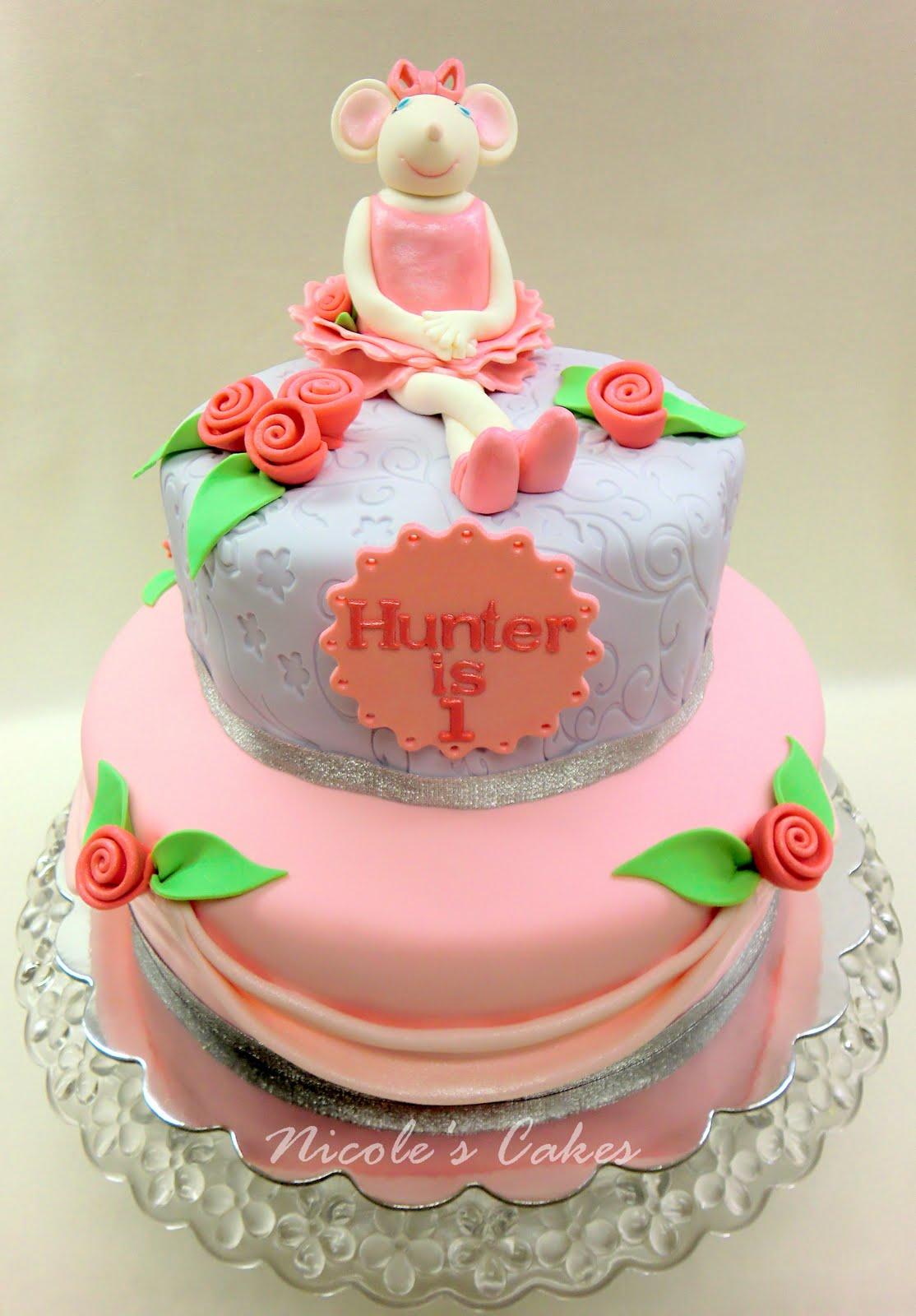 On Birthday Cakes Angelina Ballerina 1st Birthday Cake
