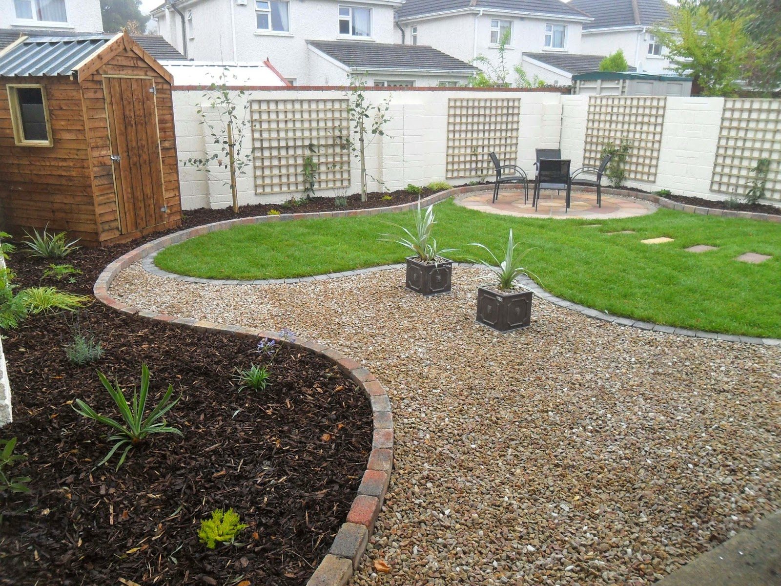 Greenart landscapes garden design construction and for Irish garden designs