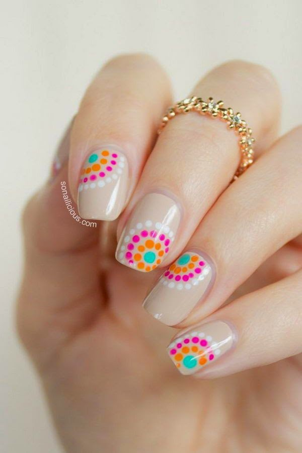 Cute Polka Dot Nail Designs,