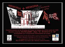 MEMORIA + MEMORIA...,historia y arte. Muestra en el MUSEO DE LA CIUDAD.