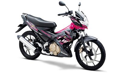 Warna Satria FU Hyper Pink - Titan Black
