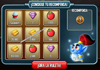 imagen del primer premio de la ruleta del challenge battle de monster legends ios