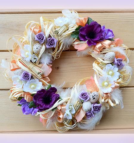 Великденски венец - как да си направим оригинална украса за Великден