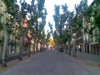 Paseo del Coso de Barbastro (Somontano, Huesca, Aragón, España)
