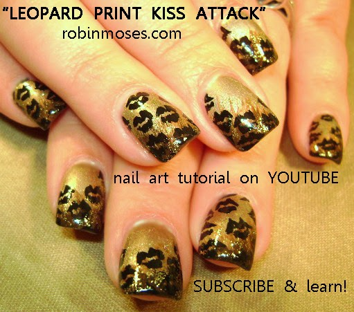 Robin moses nail art traditional leopard print nail art wednesday march 5 2014 prinsesfo Choice Image