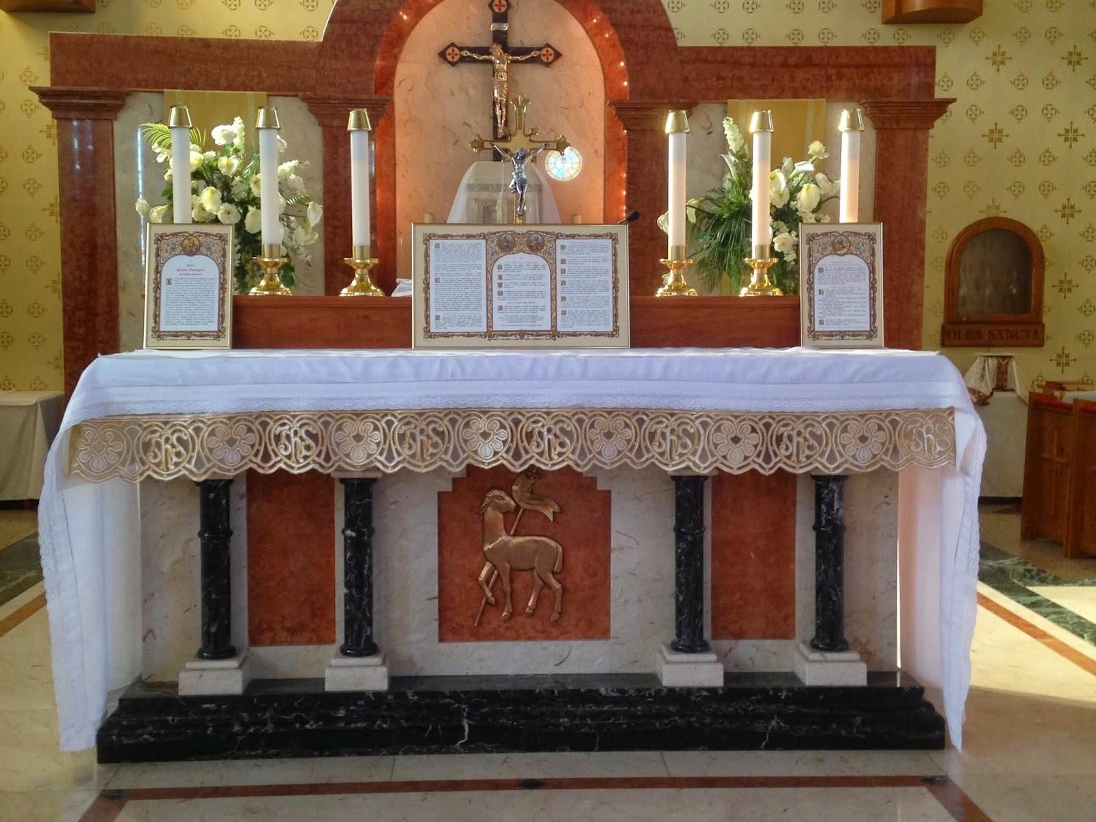 Church altar table