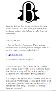 Try out Snapchat Beta with these instructions on your Android devices through Google Play