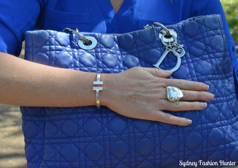 Sydney Fashion Hunter - Fresh Fashion Forum #3 - Be Bold - Blue Dior Tote, Tiffany T Bracelet, Georg Jensen Heart Ring