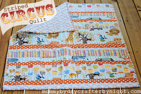 Mommy by day Crafter by night: Striped Circus Quilt Tutorial : stripe quilt patterns - Adamdwight.com