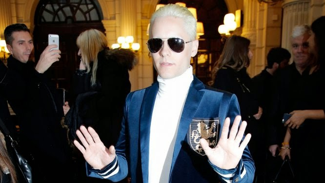 Jared Leto is unrecognisable as he goes platinum blonde!
