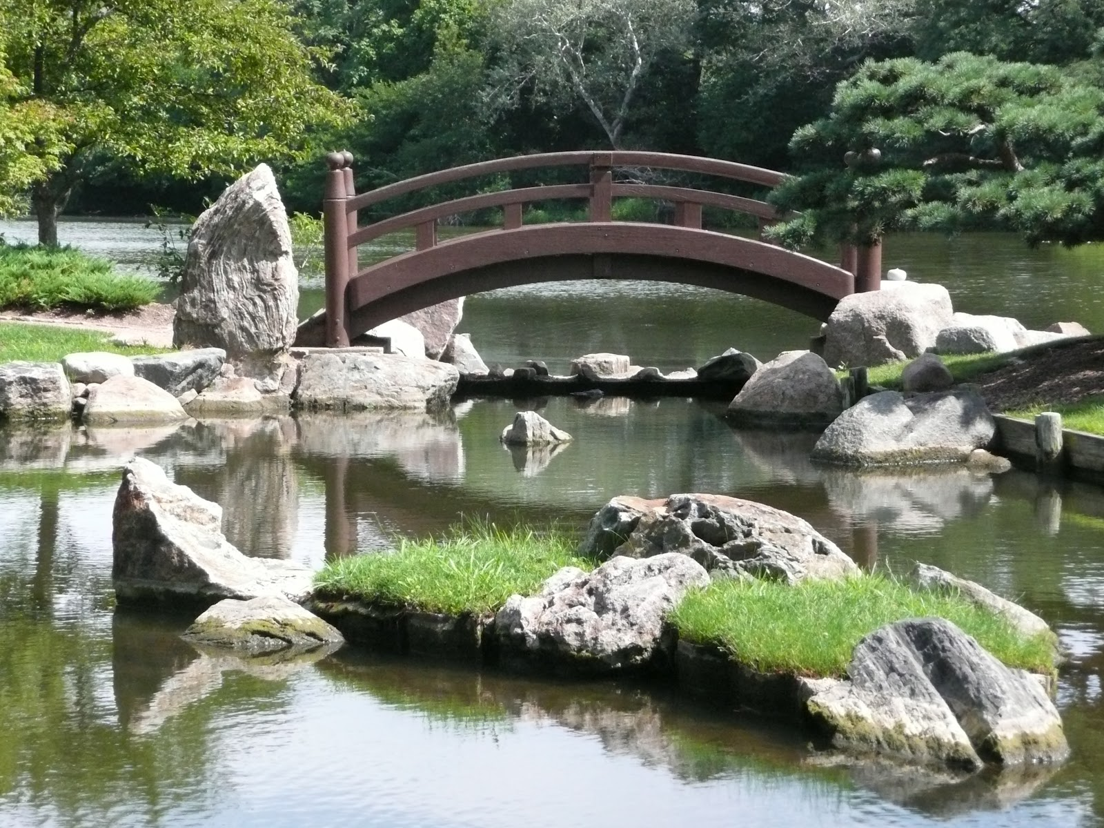 japanese zen garden zen bridge pond path