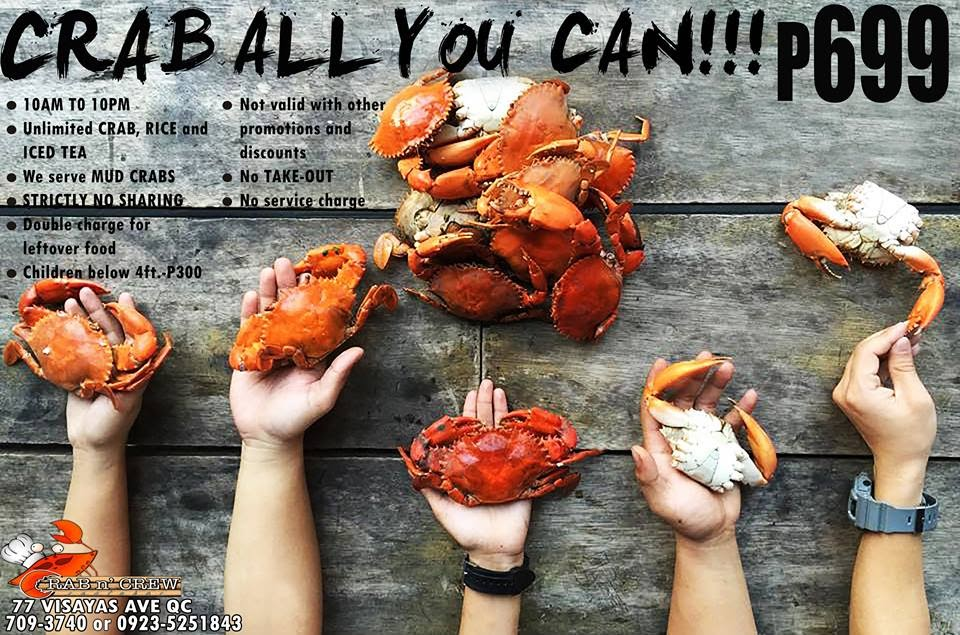 CRAB N' CREW Restobar: Crab all you can for P699