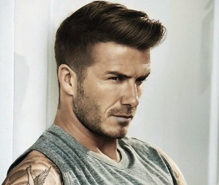 Mens Hairstyles Trendy Football Stars Hairstyles - David beckham hairstyle back view 2015