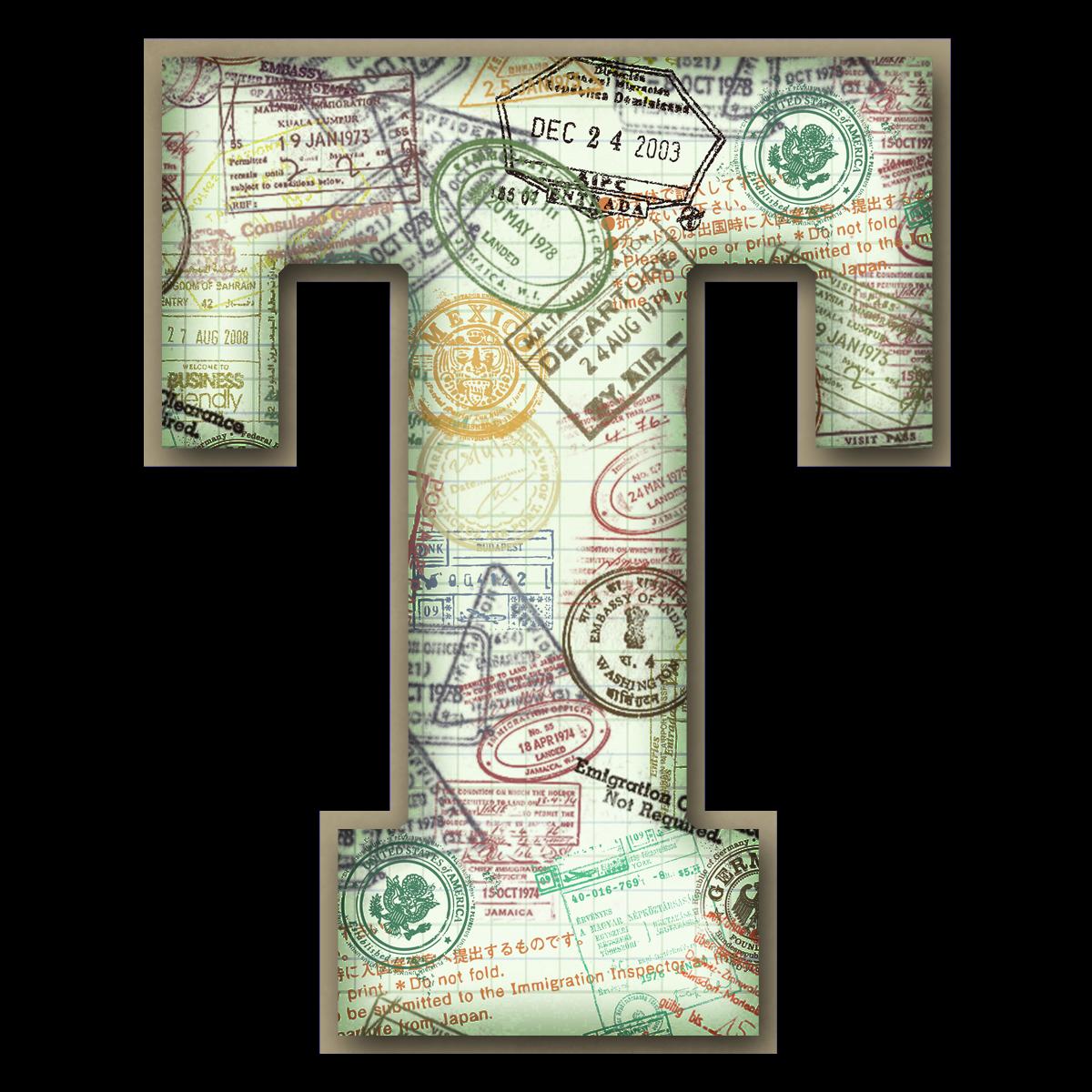 Capital Letter Stamp