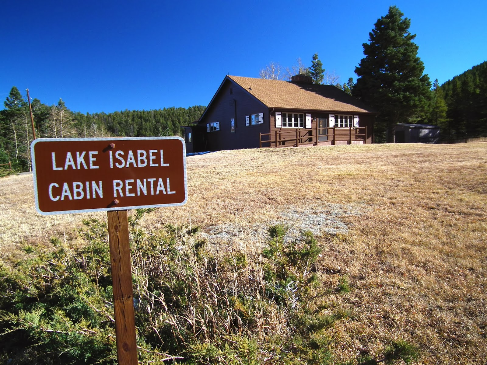The US Forest Serviceu0027s Lake Isabel Rental Cabin Sits Across The Road From  The 40 Acre Lake And Recreational Area Built By The Civilian Conservation  Corps ...