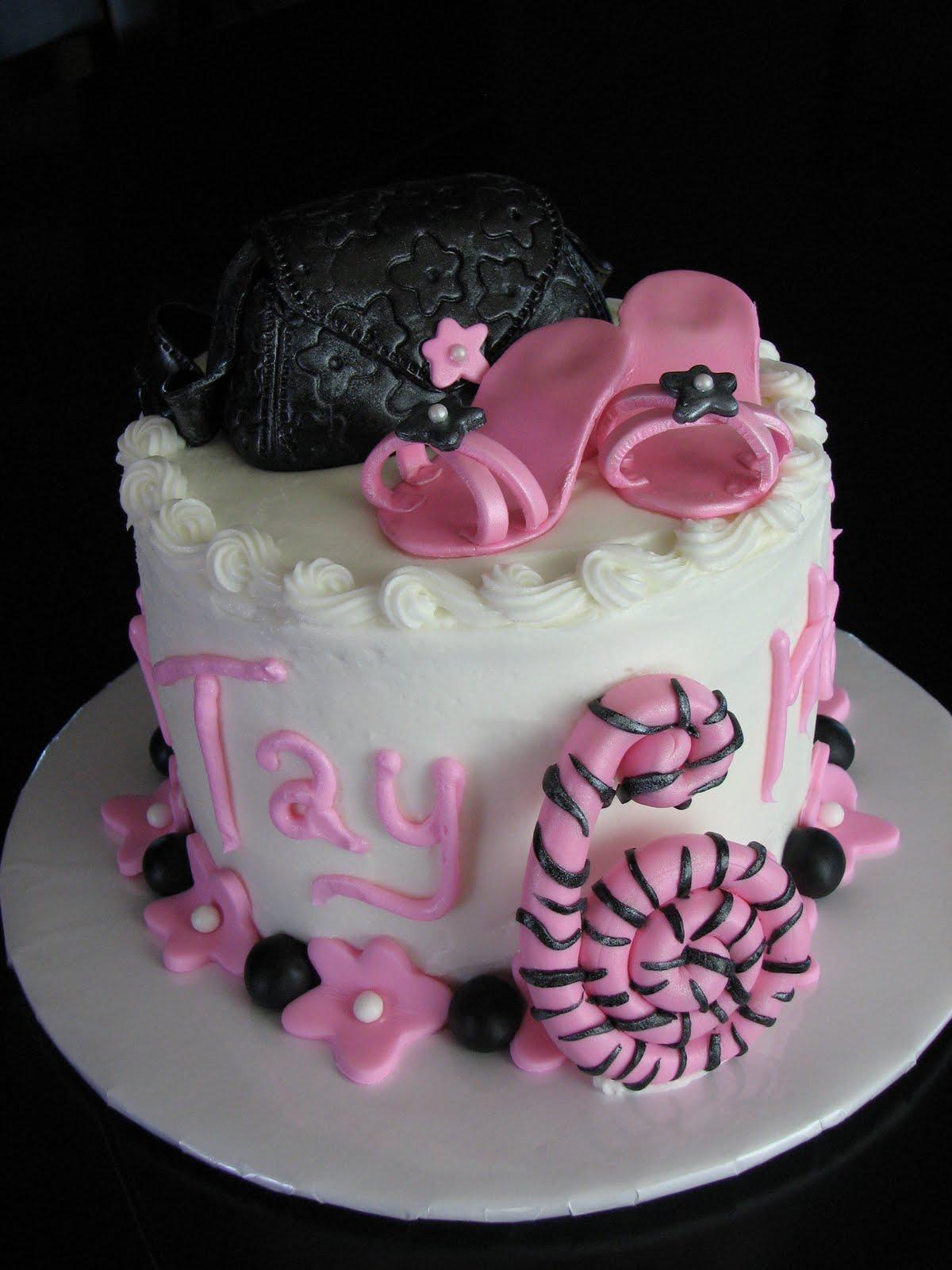 Decadent Designs Pink And Black Diva Birthday Cake