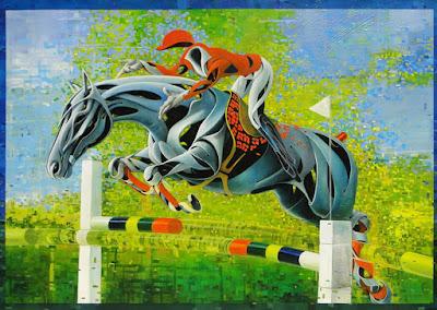 pintura surrealismo caballos