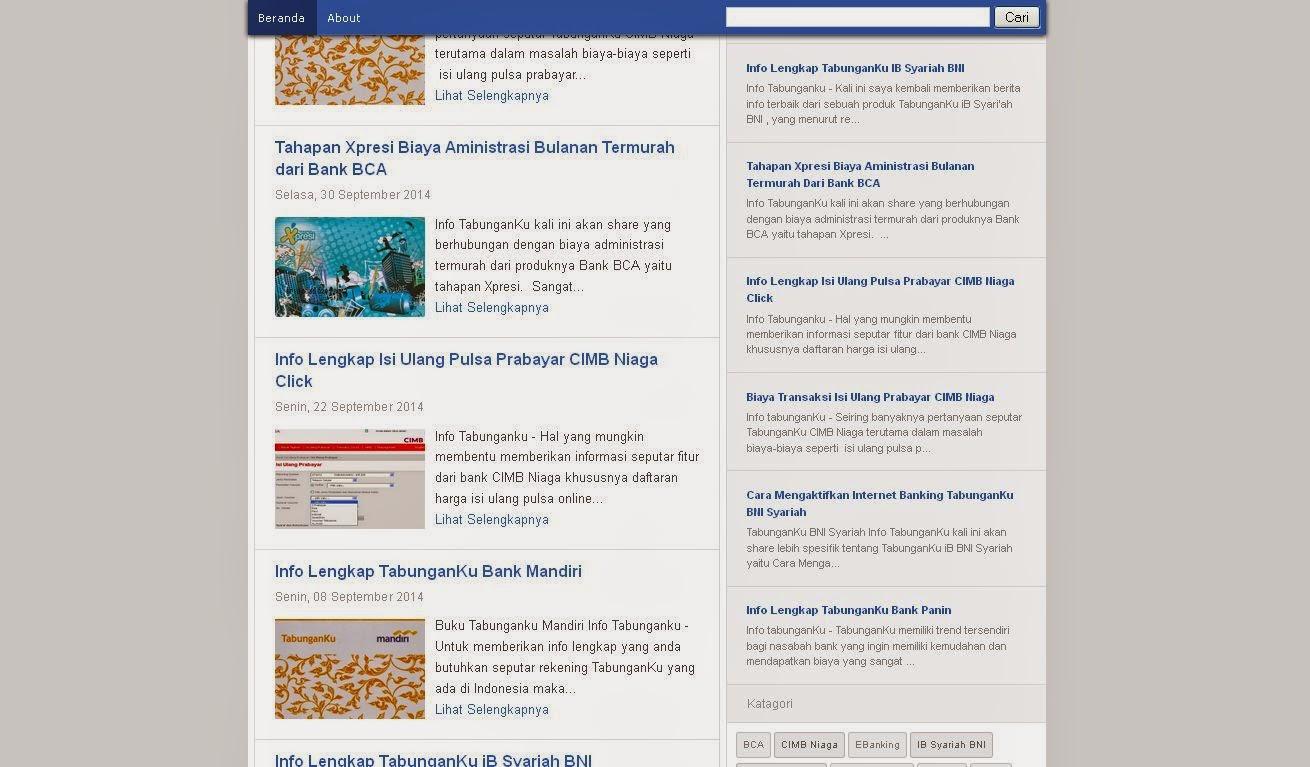Blue Alesca Blogger Template