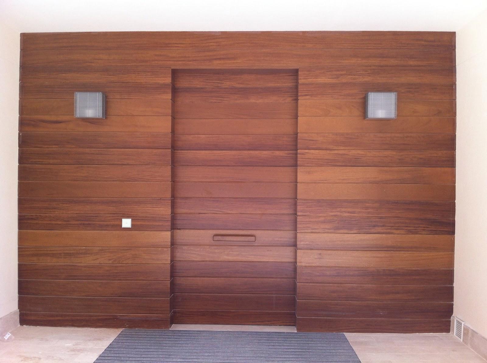 Fmcdesign entrada de madera de iroko - Entradas de madera ...
