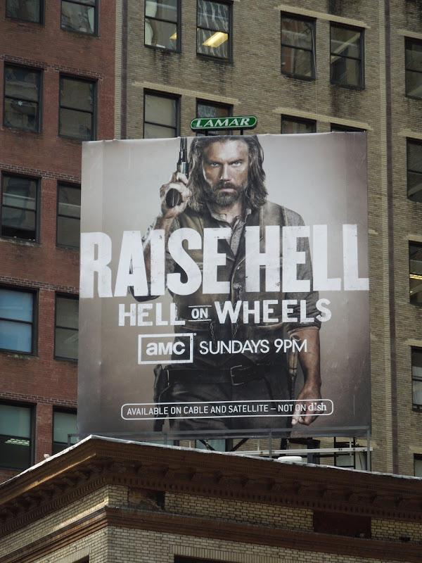 Hell on Wheels season 2 billboard NYC