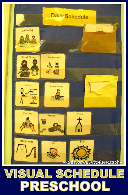 photo of: Preschool Schedule in Visual Pictures