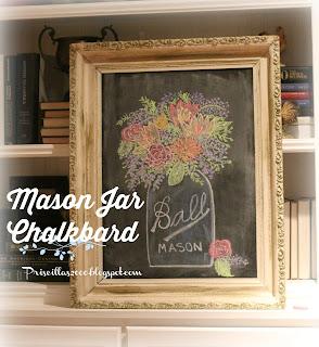 spring Mason Jar Chalkboard