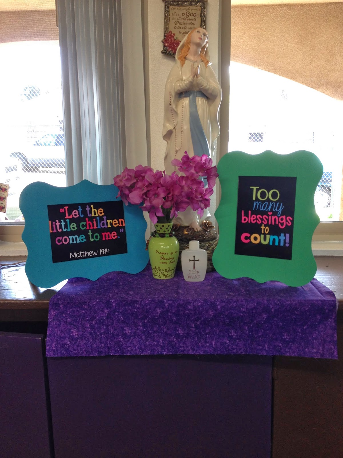 Sprucing up the prayer corner mrs b 39 s beehive - Home daycare ideas for decorating ideas ...