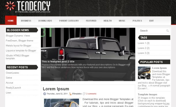 Black Gray Grunge Magazine Blogger Template