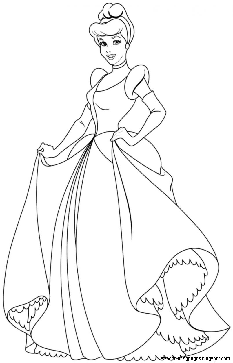 Cinderella Coloring Pages Free Coloring Pages Disney Princess Line Drawings Printable