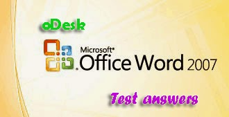odesk ms word 2007 test answers online test