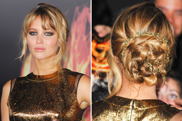 get the look jennifer lawrences hunger games premiere hair