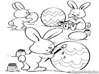 Mewarnai Kelinci Paskah