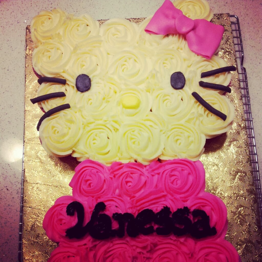 Hello Kitty Cupcake Cake