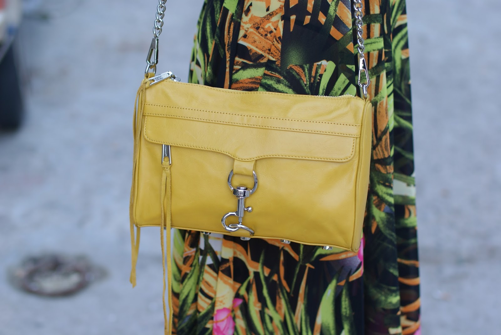yellow mac clutch bag from Rebecca Minkoff on Fashion and Cookies fashion blog