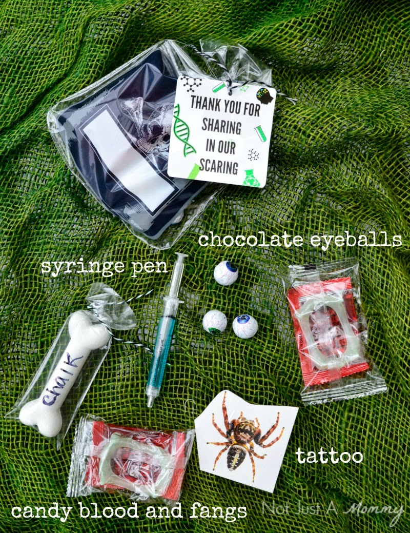 Mad Scientist's Lab Halloween party favors