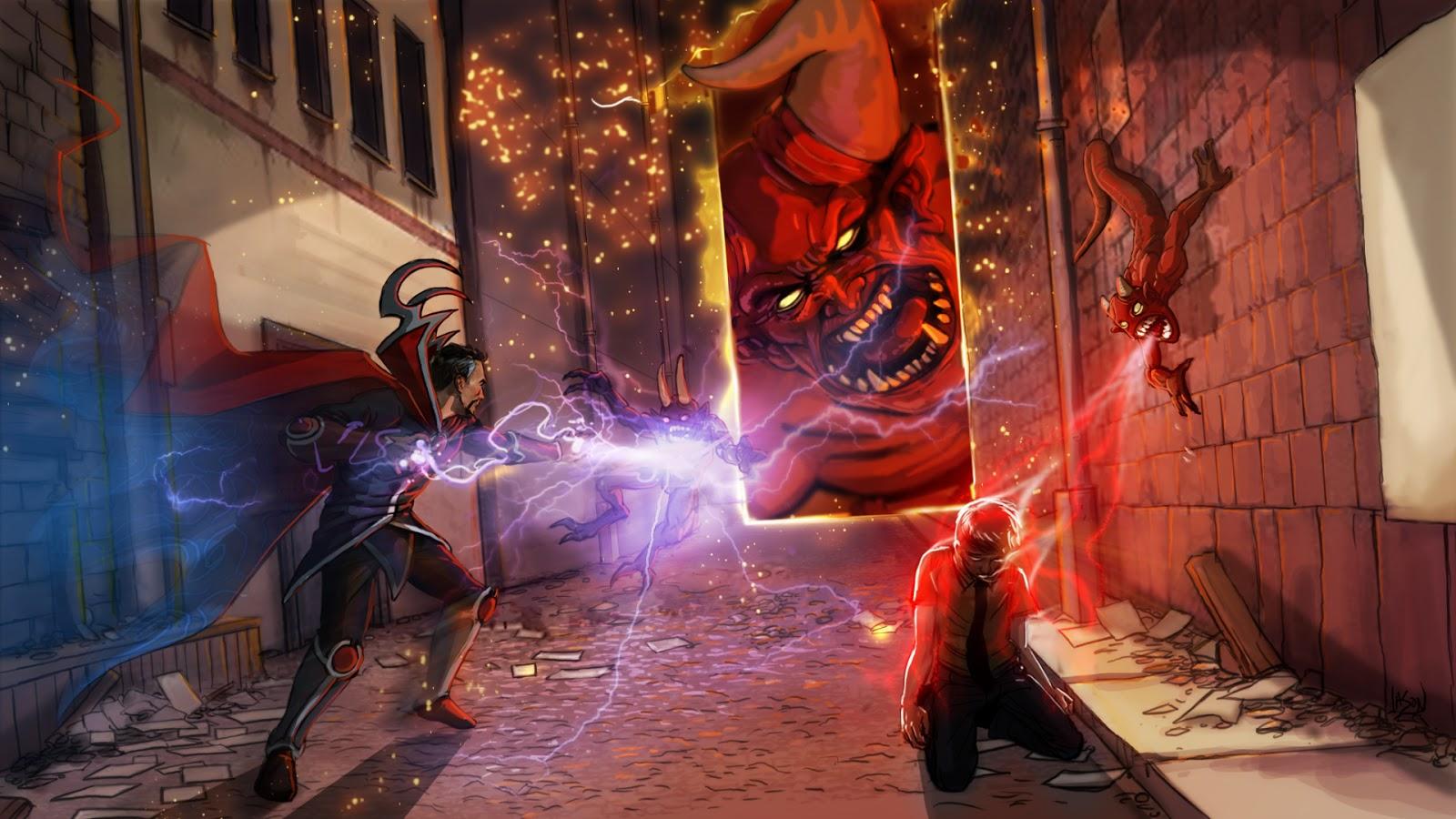Au77 Doctor Strange Hero Illustration Art: Jason Godbout