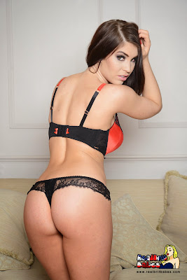 Kristie Patterson Sexy Red Bra and Thong, British Babe