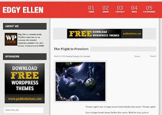 WordPress-Template Edgy Ellen