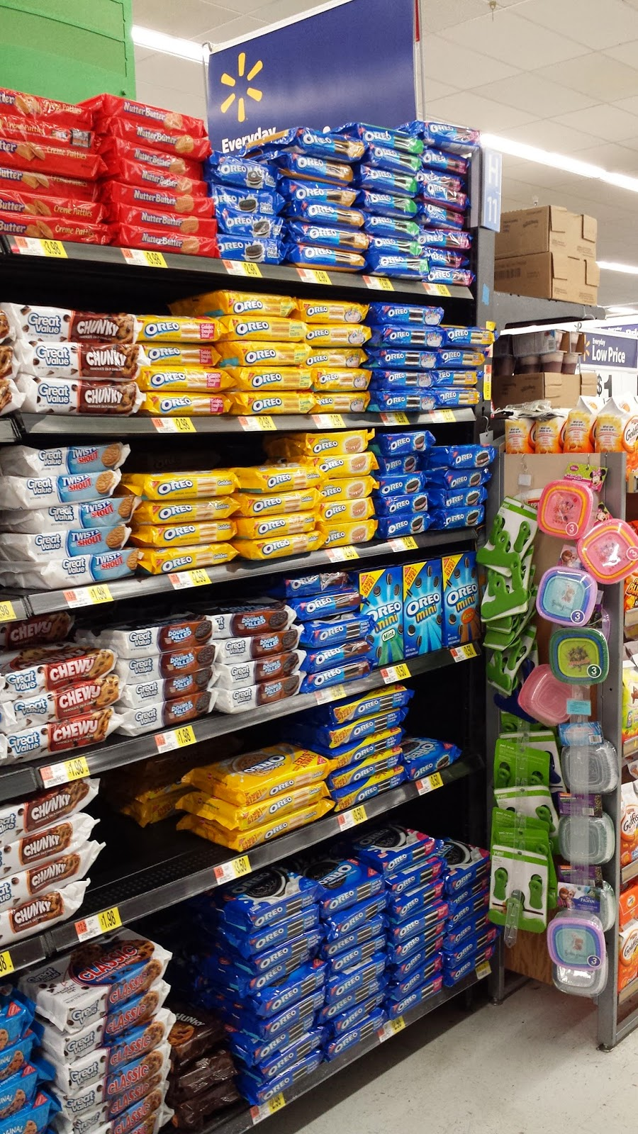 OREO cookie aisle at Walmart
